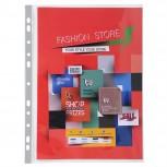 Packung mit 10 Prospekthüllen für Exagraphic aus glattem PP, Format DIN A4
