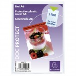 Packung mit 10 Stück Schutzhüllen einfach aus glattem PVC 200µ, für Format DIN A6