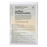 Packung mit 10 Stück Schutzhüllen für KFZ- und Führerschein aus glattem PVC 200µ, 88x138mm