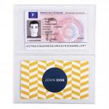 Packung mit 10 Stück Schutzhüllen für Kredit- und Visitenkarten aus glattem PVC 150µ, 64x110mm