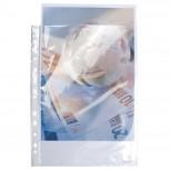 Packung mit 100 Prospekthüllen glatt und gelocht aus PP 90µ, DIN A4