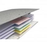 Packung mit 100 Trennstreifen, 2-fach gelocht, aus Manilakarton 180g/qm, 105x142mm
