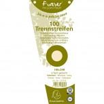 Packung mit 100 Trennstreifen, gelocht, trapezförmig aus Recycling-Papier 180g/qm, 105x240mm - Forever