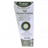 Packung mit 120 Trennstreifen, gelocht, trapezförmig aus Recycling-Papier 180g/qm, 105x240mm - Forever