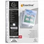 Packung mit 20 Prospekthüllen für das Ringbuch Exashow -aus glattem PP 55µ, für Format DIN A4