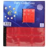Packung mit 3 Stück Münzenhüllen mit 12 Fächern mit Ø50mm, 24,5x25cm