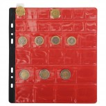 Packung mit 3 Stück Münzenhüllen mit 32 Fächern mit Ø20, 30 und 40mm, 24 ,5x25cm