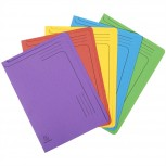 Packung mit 5 Aktenmappen mit Beschriftungsfeld und abgerundeten Ecken aus Recycling-Karton 290g Foldyne Forever, für Format DIN A4