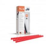 Peach Binderücken 12mm, für je 95 Blatt A4, rot, 100 Stück - PB412-03