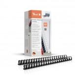 Peach Binderücken 25mm, für 240 Blatt A4, schwarz, 50 Stück, PB425-02