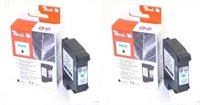 Peach Doppelpack Druckköpfe schwarz - PI300-488