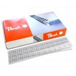 Peach Drahtbinderücken 12mm weiss, 3:1'', 34 Ringe A4, 100 Stk. PW127-02
