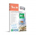 Peach Laminierfolien A4, 80 mic, glänzend, abheftbar, S-PP580-21, 100 Stk.