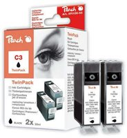 Peach Twin Pack schwarz - PI100-55