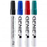 Permanent Marker, farbig sortiert, mit Rundspitze und Metallschaft, Strichbreite 1-3 mm 4er Pack Inhalt: je 1x schwarz, blau, rot und grün
