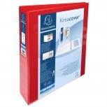 Personalisierbares Ringbuch aus PP 1,9mm, 4 Ringe 40mm, Rücken 64mm, 2 äußere Klarsichthüllen, 32x28,5cm für DIN A4 Überbreite - Kreacover.
