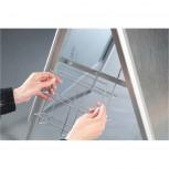 Prospekthalter, DIN A4, 210 x 297 65 mm, silber