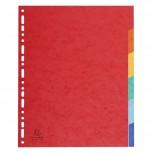 Register aus Manilakarton 225g/qm, 6 Positionen, für Format DIN A4 Maxi