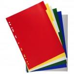 Register aus PP 120µ mit 6 Positionen, für Format DIN A4 Maxi