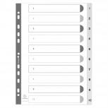Register aus PP weiß mit Zahlenaufdruck 10-teilig, für DIN A4