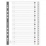 Register aus PP weiß mit Zahlenaufdruck 20-teilig, für DIN A4