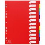 Register DIN A4 Maxi aus festem PP 350µ, blanko, 12-teilig