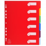 Register DIN A4 Maxi aus festem PP 350µ, blanko, 6-teilig