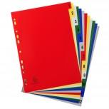 Register für Ordner und Ringbücher, aus PP, 12 Positionen, Taben 1-12, für DIN A4