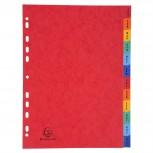 Register mit bedruckten Taben aus Manila-Karton, 225g mit 12 Positionen Taben Jan.-Dez., für Format DIN A4