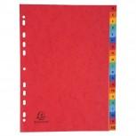 Register mit bedruckten Taben aus Manilakarton, 225g/qm, 20 Positionen, Taben A-Z, für Format DIN A4