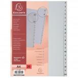 Register mit Beschriftungsfeld aus PP 130µ mit 20 Positionen Taben A-Z, für Format DIN A4