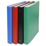 Ringbuch aus festem Karton 2,5mm PVC kaschiert, 4 Ringe 30mm, Rücken 40mm, 34,3x28cm für DIN A4