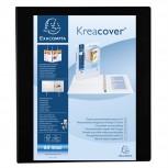 Ringbuch aus festem PP 1,9mm, 4 Ringe 30mm in D-Form, Rücken 38mm Rücken, 3 Außen- und 2 Innenhüllen, 32x27,7cm für DIN A4 Überbreite - Kreacover
