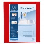 Ringbuch aus festem PP 2,3mm, 4 Ringe 50mm in D-Form, Rücken 75mm, 3 Außen- und 2 Innenhüllen, 32x29,5cm für DIN A4 Überbreite - Kreacover