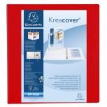 Ringbuch aus festem PP 2,3mm, 4 Ringe 60mm, Rücken 90mm, 3 Außentaschen, 32x28,5cm für DIN A4 Maxi - Kreacover