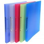 Ringbuch aus PP 500µ mit 2 Ringen 15mm, Rücken 20mm, Chromaline, 32x25cm für DIN A4