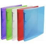 Ringbuch aus PP mit 4 Ringen und 20mm Rücken Chrystal Colours, für Format DIN A4