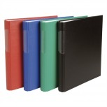 Ringbuch festem Karton 1,8mm PP kaschiert, 2 Ringe 30mm rund, Rücken 40mm abgerundet, 32x27cm für DIN A4