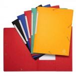 Sammelmappe mit 3 Klappen, Etikett und Gummizug aus Scotten Manila-Karton 600g/qm, für Format DIN A4