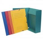 Sammelmappe mit Gummizug, 3 Klappen und Organisationsdruck aus Manila-Karton 355g/qm, für Format DIN A4