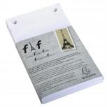 Schachtel mit 5 Einlagen für Block FAF blanko, 16x10cm