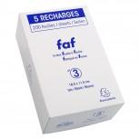 Schachtel mit 5 Einlagen für Block FAF blanko, 18,5x11,5cm