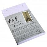 Schachtel mit 5 Einlagen für Block FAF kariert, 21x13,5cm