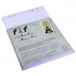 Schachtel mit 5 Einlagen für Block FAF kariert, DIN A4 21x29,7cm