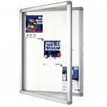 Schaukasten ECO für 12x A4, Flügeltüren, 98 x 101,1 x 4,5 cm, weiß
