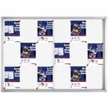Schaukasten PRO für 18x A4, Schiebetüren, 139 x 99 x 4,6 cm, magnethaftend