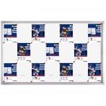 Schaukasten PRO für 21x A4, Schiebetüren, 161,5 x 99 x 4,6 cm, magnethaftend