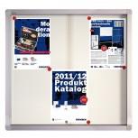 Schaukasten PRO für 6x A4, Schiebetüren, 73 x 68 x 4.6 cm, weiß, magnethaftend