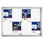 Schaukasten PRO für 8x A4, Schiebetüren, 95 x 68 x 4,6 cm, magnethaftend