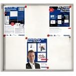 Schaukasten X-tra!Line® für 8x A4, 96 x 68 x 3 cm, weiß, magnethaftend